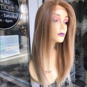 Accessories - Wig long blonde ombré 27/613 human hair Blende